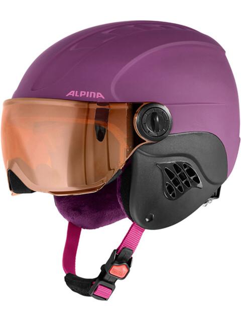 Alpina Carat LE Visor HM Helmet Kids violet matt